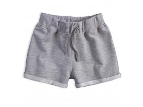 Dievčenské šortky KNOT SO BAD MANDARINO šedý melír