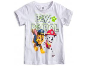 Chlapčenské tričko PAW PATROL MARSHALL a CHASE biele