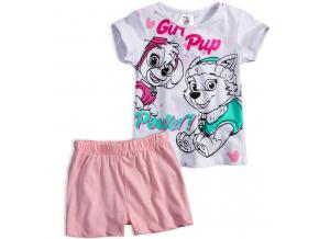 Dievčenské letné pyžamo PAW PATROL POWER biele