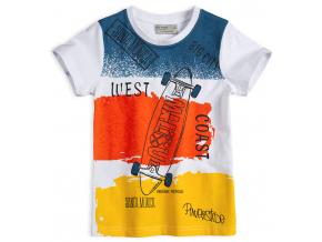 Chlapčenské tričko GLO-STORY SKATE žltý pruh