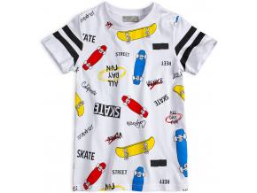 Chlapčenské tričko GLO-STORY SKATEBOARDY biele