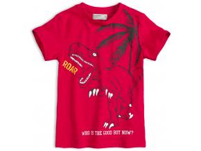 Chlapčenské tričko GLO-STORY TYRANOSAURUS červené
