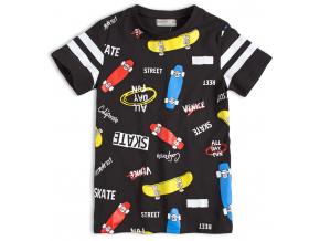Chlapčenské tričko GLO-STORY SKATEBOARDY čierne