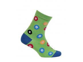 Chlapčenské vzorované ponožky WOLA BILLIARD zelené