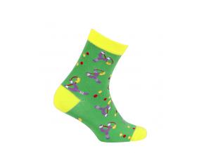 Chlapčenské ponožky so vzorom WOLA PRAK zelené