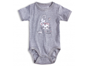 Dojčenské body VENERE MAČIČKA šedý melír