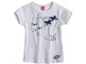 Dievčenské tričko DIRKJE ENJOY THE SUN biele