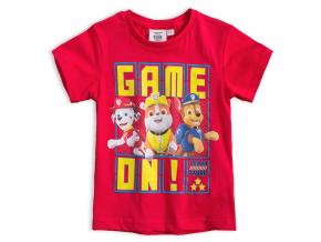 Chlapčenské tričko PAW PATROL GAME ON červené