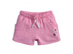 Dievčenské šortky VENERE WANT TO BE ružový melír
