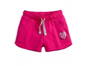 Dievčenské šortky VENERE HEART tmavo ružové
