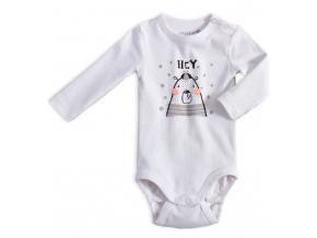 Dojčenské body VENERE MEDVEDÍK biele