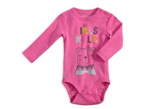 Dojčenské body VENERE GIRL RULE ružové
