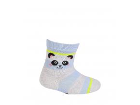 Dojčenské dievčenské vzorované ponožky WOLA PANDA svetlo modré