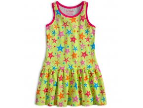 Dievčenské šaty LOSAN HVIEZDICE limetkové