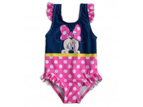 Dievčenské plavky vcelku DISNEY MINNIE DOTS ružové