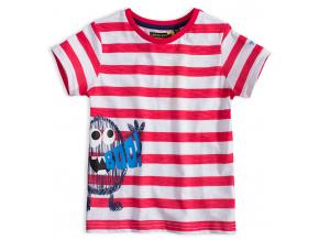 Chlapčenské tričko LEMON BERET MONSTER SQUAD červenobiele