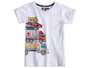 Chlapčenské tričko LEMON BERET AUTÁ biele