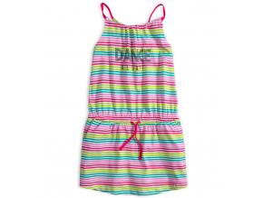 Dievčenské letné šaty LOSAN DANCE farebné prúžky