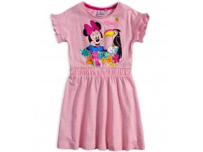 Dievčenské šaty DISNEY MINNIE s tukanom svetlo ružové