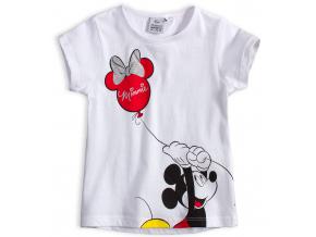 Dievčenské tričko DISNEY MINNIE a MICKEY biele