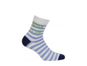 Chlapčenské ponožky s nápisom GATTA BORN TO DIVE modré prúžky