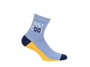 Chlapčenské vzorované ponožky GATTA JUST COOL modré