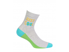 Chlapčenské vzorované ponožky GATTA JUST COOL šedý melír