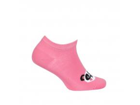 Dievčenské členkové ponožky WOLA PANDA ružové