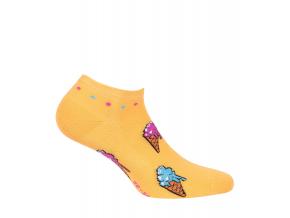 Dievčenské členkové ponožky WOLA ZMRZLINY oranžové