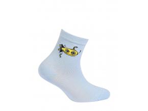 Chlapčenské vzorované ponožky WOLA PONORKA svetlo modré