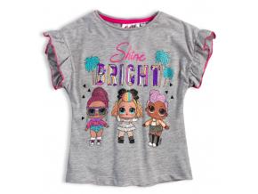 Dievčenské tričko L.O.L SURPRISE BRIGHT šedé