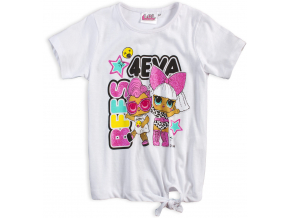 Dievčenské tričko L.O.L SURPRISE BEST 4EVA biele