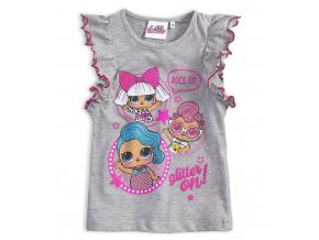 Dievčenské tričko L.O.L SURPRISE GLITTER šedé