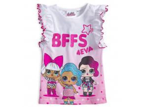 Dievčenské tričko L.O.L SURPRISE BFFS biele