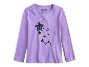 Dievčenské tričko LOSAN SPARKLE fialové