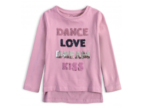 Dievčenské tričko s meniacimi flitrami KNOT SO BAD DANCE ružové