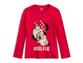Dievčenské tričko DISNEY MINNIE SELFIE červené