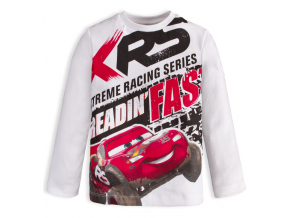 Chlapčenské tričko DISNEY CARS RACING biele