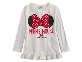 Dievčenské tričko DISNEY MINNIE DOT COUTURE biele