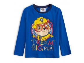 Chlapčenské tričko PAW PATROL RUBBLE BIG modré