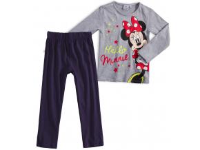Dievčenské pyžamo DISNEY MINNIE HELLO šedé