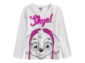 Dievčenské tričko PAW PATROL SKYE biele
