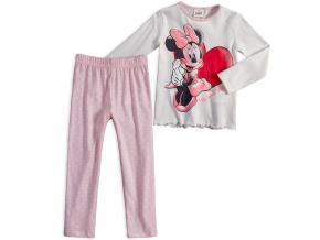 Dievčenské pyžamo z bio bavlny DISNEY MINNIE SRDCE biele