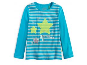 Dievčenské tričko LEMON BERET STARSTRUCK tyrkysové