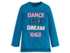 Dievčenské tričko s meniacimi flitrami KNOT SO BAD DANCE modré