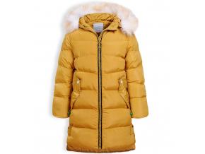 Dievčenský zimný kabát GLO STORY ALPHABET horčicový