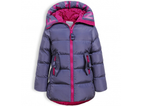 Dievčenský zimný kabát GLO STORY STYLE šedý