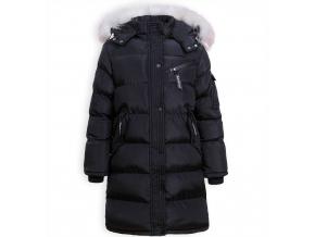 Dievčenský zimný kabát GLO STORY FASHION čierny