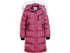 Dievčenský zimný kabát GLO STORY FASHION ružový