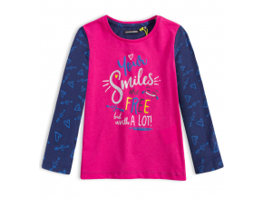 Dievčenské tričko LEMON BERET SMILES ružové